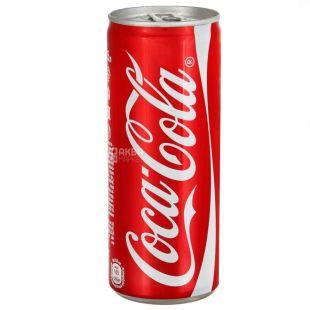 Coca-Cola, 0,33 л, Кока-Кола, Вода сладкая, ж/б