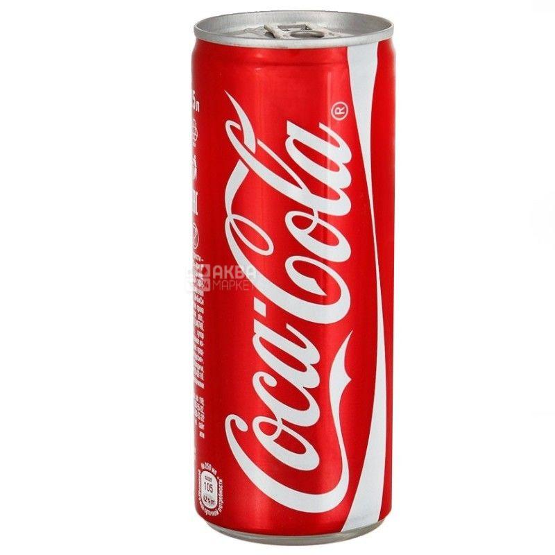 Coca-Cola, 0,33 л, Кока-Кола, Вода солодка, ж/б