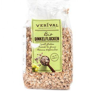 Verival, 500 г, Пластівці Верівал, із спельти, органічні, без глютену