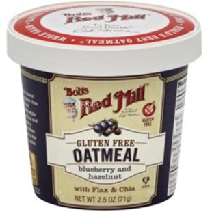 Bob's Red Mill, Oatmeal Blueberry-Hazelnut, in a cup, 71 g