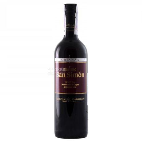 J.Garcia Carrion Castillo San Simon Crianza, вино червоне сухе, 0,75 л