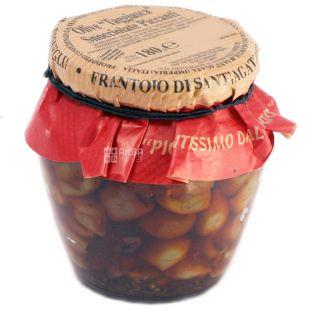 Frantoio di Sant'agata, Оливки Таджаске с косточками в масле оливковом с перцем чили, 180 г