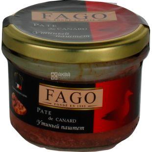 Fago, Паштет утиный, 180 г