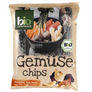 Bio Zentrale, Чипсы овощные с перцем и солью органические, 80 г