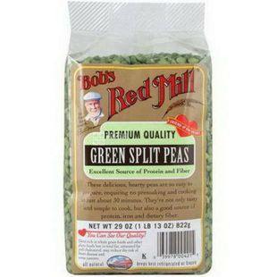 Bob's Red Mill, Green split peas, 822г, Бобс Ред Милл, Горох зеленый колотый