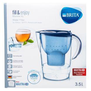 Brita Marella, Фильтр для воды, кувшин, синий, 3,5 л