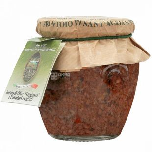 Bruschetta sauce with olives in Tajash and sun-dried tomatoes 180g, Frantoio di Sant'Agata