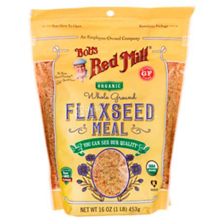 Bob's Red Mill, Flaxseed Meal, 0,453 кг, Мука Бобс Ред Милл, льняная, без глютена, органическая