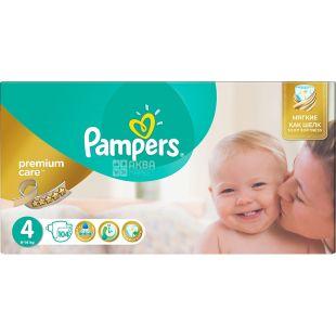 Pampers, Подгузники Premium Care 4, 8-14 кг, 104 шт.