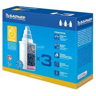 Барьер Классик, Картридж для фильтра-кувшин, сменный, для жесткой воды, 3 шт