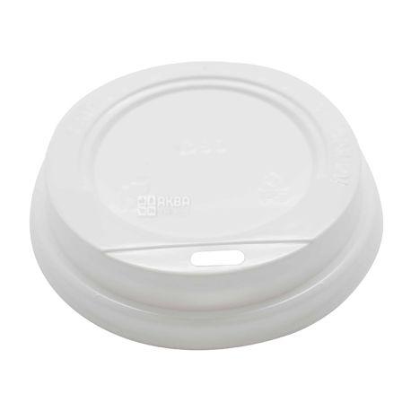 Кришка біла для одноразового стаканчика 250 мл, 50 шт.