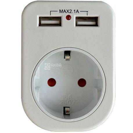 Lemanso LM681, Розетка з двома USB-гніздами