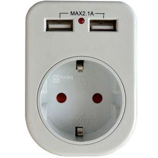 Lemanso LM681, Розетка с двумя USB-гнездами