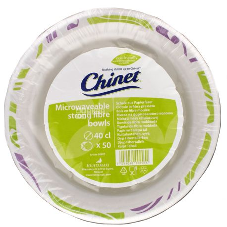 Chinet, Disposable paper plates, 400 ml, 50 pcs.