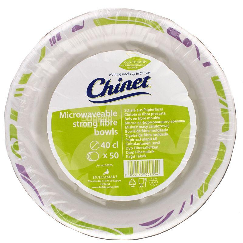Chinet, 40 см, Тарелки бумажные одноразовые, 50 шт.