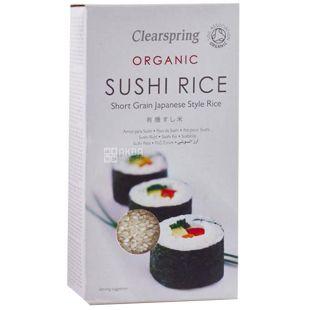 Clearspring, Рис для суші, Органічний, 500 г