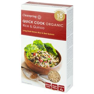 A mixture of rice and instant cohesive organic 250g, Clearspring
