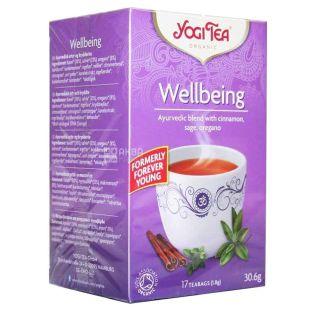 YogiTea, Wellbeing, 17 пак., Чай ЙогіТі, Благополуччя, з орегано і корицею, органічний