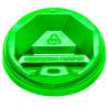 Крышка для одноразового стакана 180 мл, Зеленая, 50 шт, D71