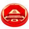 Кришка на одноразовий стакан 400 мл, червона, 50 шт, D90