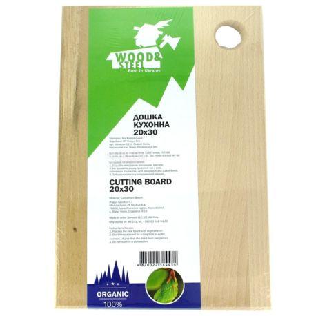 Wood & Steel, Дошка кухонна, Бук, 20х30 см