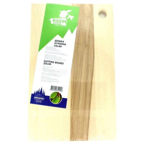 Wood & Steel, Дошка кухонна, Бук, 25х40 см