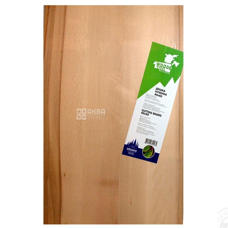 Wood & Steel, Дошка кухонна, Бук, 40х60 см