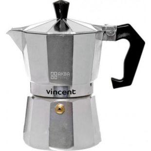 Vincent, Кофеварка гейзерная, алюминий, на 4 чашки