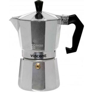 Vincent, Кофеварка гейзерная, алюминий, на 6 чашек