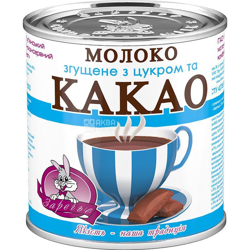 Заріччя, Молоко згущене з цукром і какао, 7,5%, 370 г