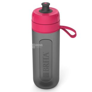 BRITA Fill&Go Active, Фильтр-бутылка, розовая