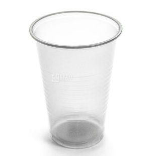 Plast Group, Стакан одноразовий, прозорий, 180 мл х 100 шт.
