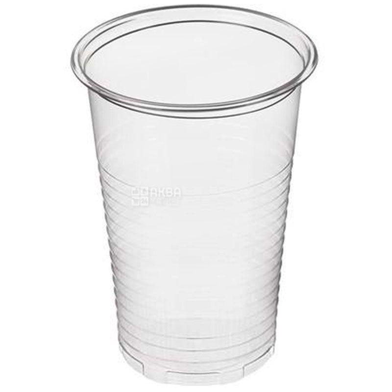 Plast Group, Стакан одноразовий, прозорий, 200 мл х 100 шт.