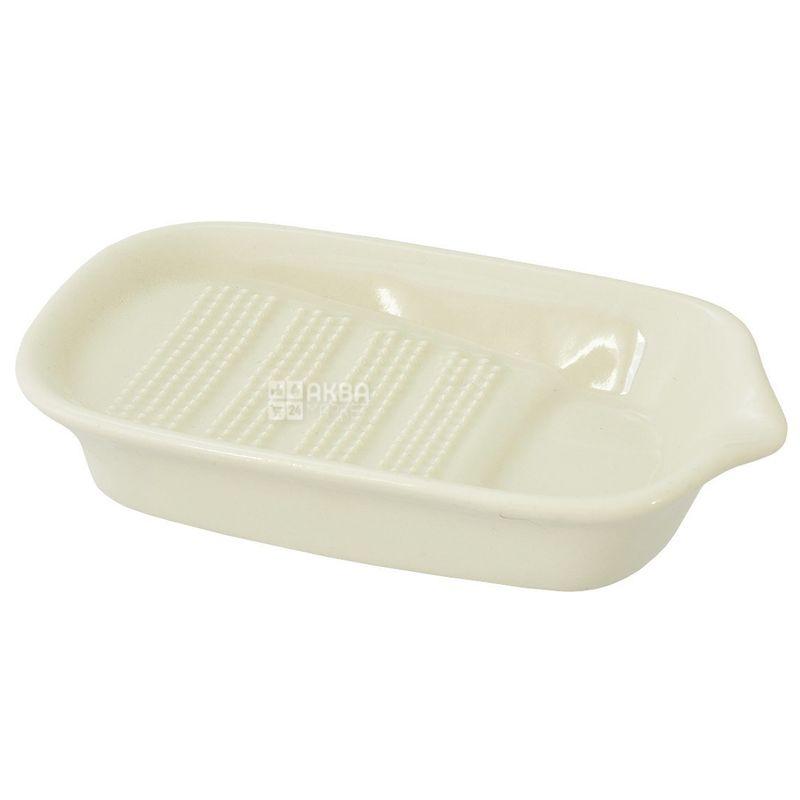 Fackelmann, Тертка керамічна, біла, 15 х 8 см