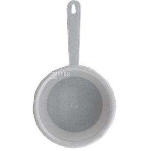 Кухонный ковш, пластик, белый, 1 л