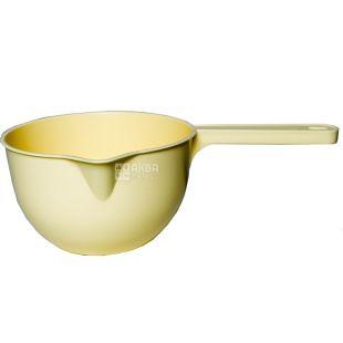 Кухонный ковш, пластик, желтый, 1,5 л