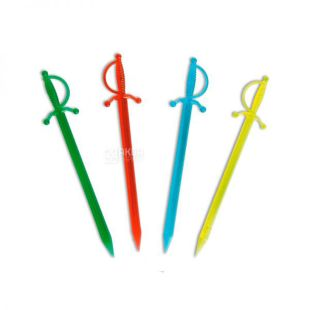 Skewers for canapes, 10 colors, 85 mm, 1000 pcs.