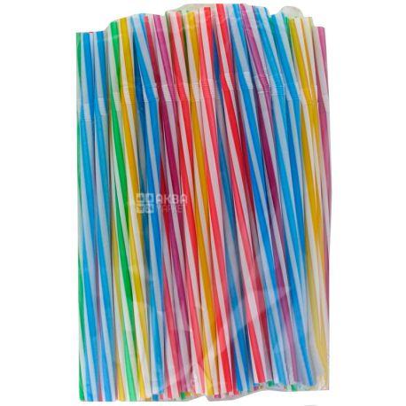 Happy Party, Соломка фреш с люминесцентной гофрой, 23,5 см, цветные, 50 шт.