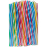 Happy Party, Fresh straw with fluorescent corrugation, assorted, 50 pcs