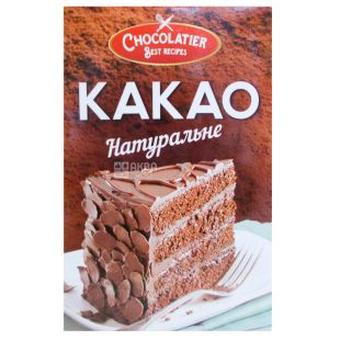 Chocolatier, Какао натуральне, 80 г, Чоколатье, какао-порошок