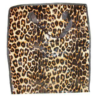 Сумка господарська поліпропіленова, Леопард,  45*50*25 см