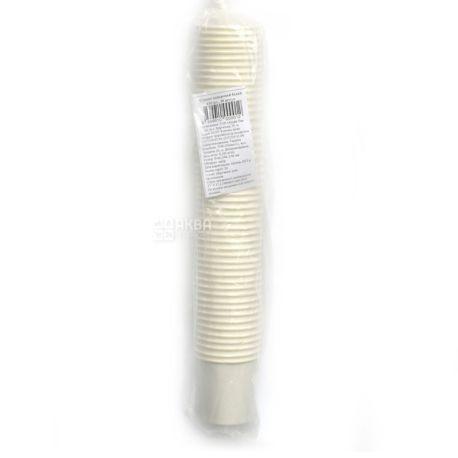 Альфа Пак, Стакан паперовий білий, 110 мл, 50 шт.