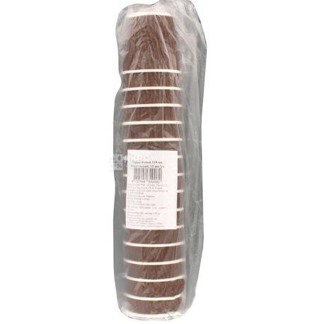 Альфа Пак, Стакан паперовий гофрований, коричневий, 110 мл, 15 шт.