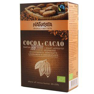 Naturata, Cacao, 125 г, Натурата, Какао-порошок з низьким вмістом жиру