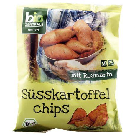 Bio Zentrale, Чипсы со сладким картофелем и розмарином, органические, 75 г