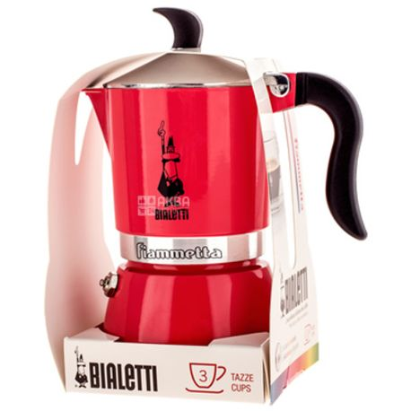 Bialetti, Кавоварка гейзерна Fiametta, рожева, на 3 чашки, 150 мл