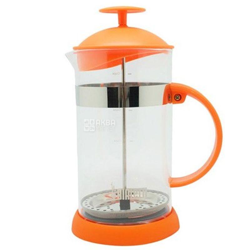 Bialetti, Френч-пресс для напитков Joy, оранжевый, 1 л