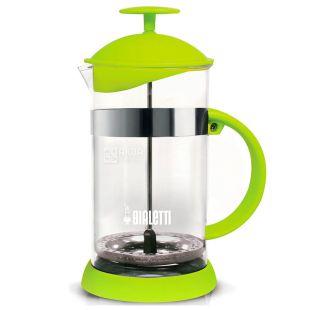Bialetti, Френч-пресс для напитков Joy, зеленый, 1 л