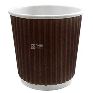 Alpha Pak, Paper Corrugated Glass, brown, 110 ml, 15 pcs.