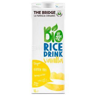 The Bridge, Rice drink Vanilla, 1 л, Бридж, Напиток рисовый с ванилью, без глютена
